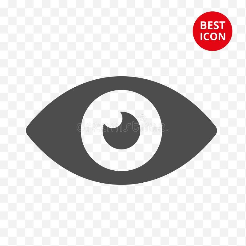 Oko wektoru ikona Graficzny oka pojęcie Minimalistic styl Płaski projekt Odizolowywający Dla mobilnej zastosowanie oftalmologa ap royalty ilustracja