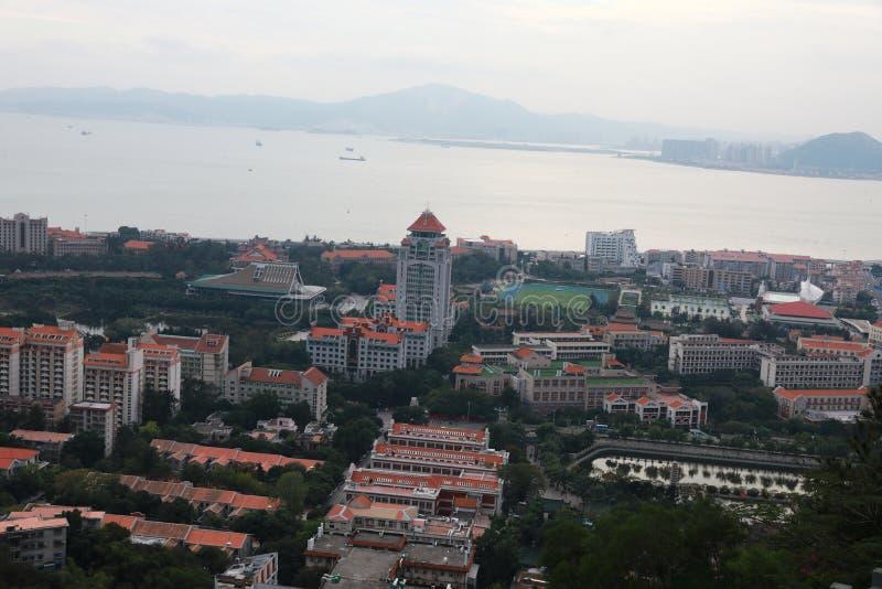 Oko widok Xiamen kampus, południowo-wschodni Chiny fotografia stock