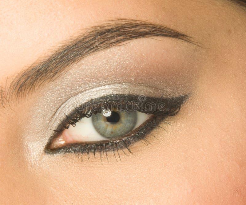 Oko z makijażem obraz royalty free