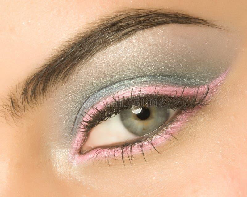 Oko z makijażem zdjęcie royalty free