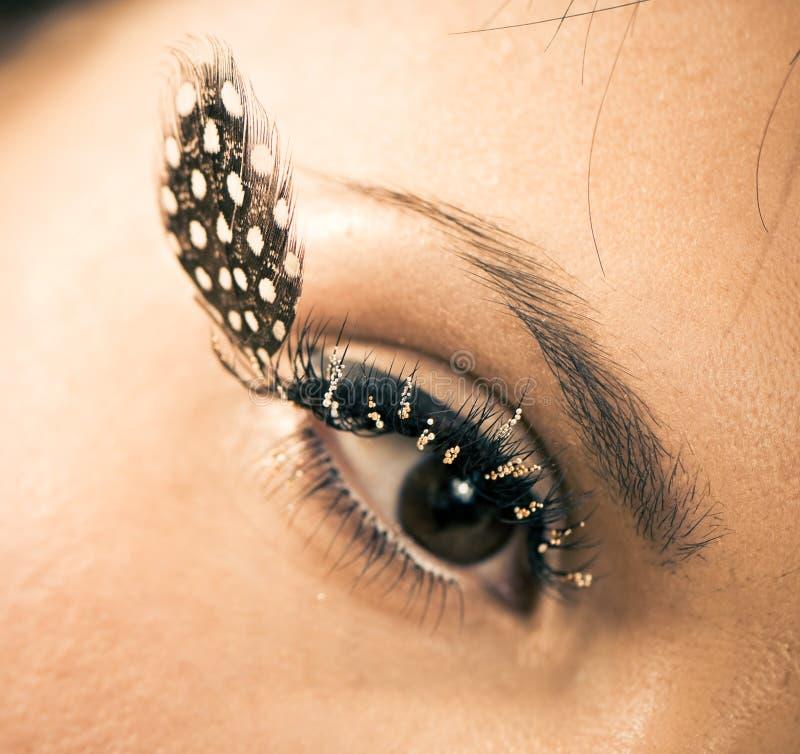 Oko z piórkiem zdjęcia stock