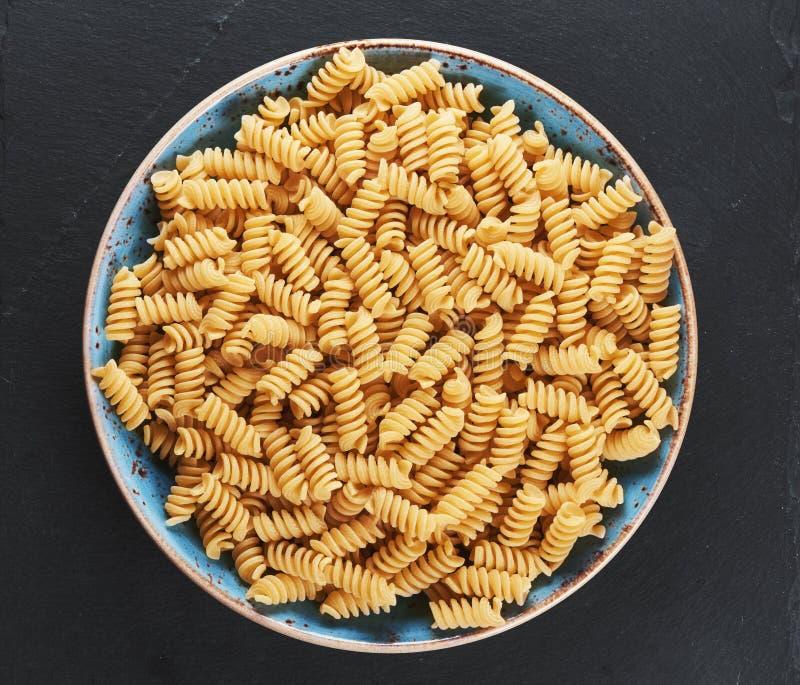 Okokt spiral pasta, bästa sikt arkivbild