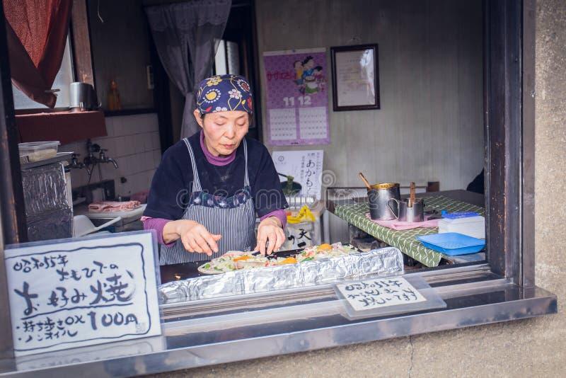 Okonomiyaki royaltyfria foton