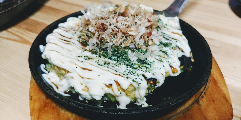Okonomiyaki - Osaka Signature Dish photographie stock
