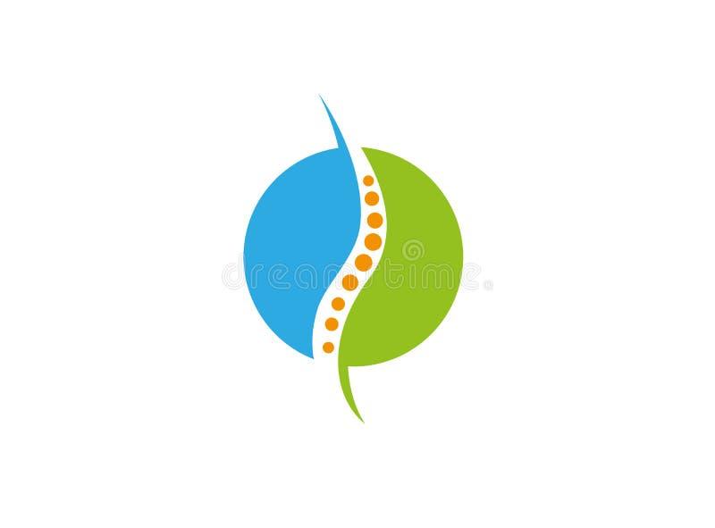 Okrąg sfera rdzeń kręgowy dla medycznego logo ilustracji