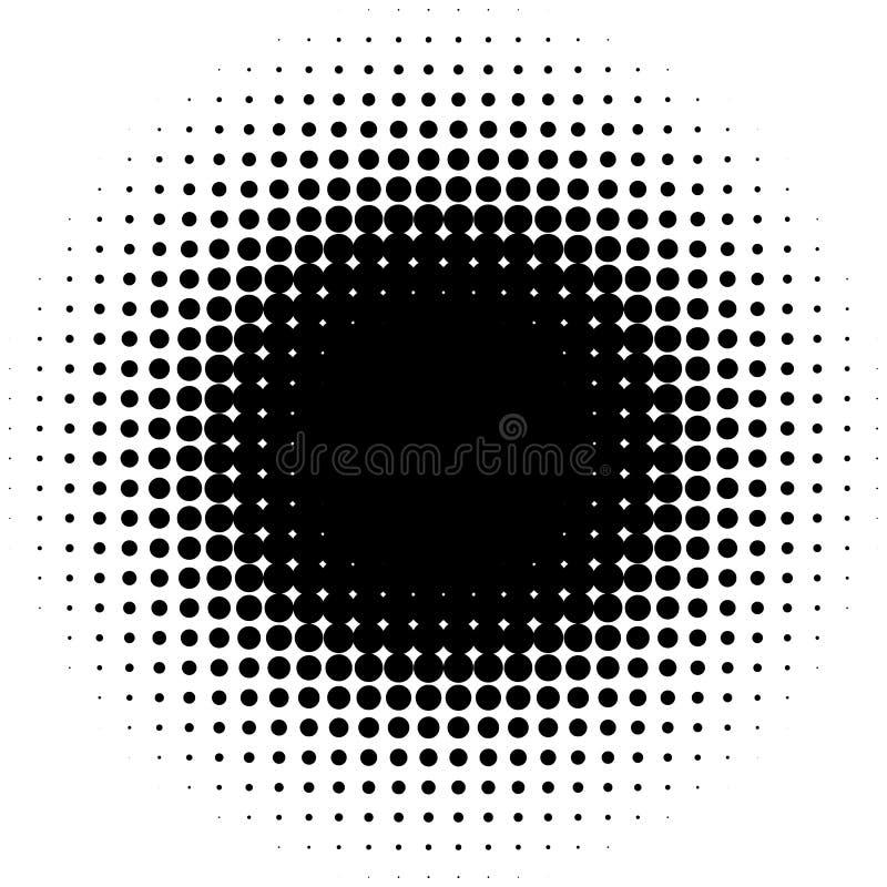 Okrąża halftone element, monochromatyczna abstrakcjonistyczna grafika dla DTP, pr ilustracji