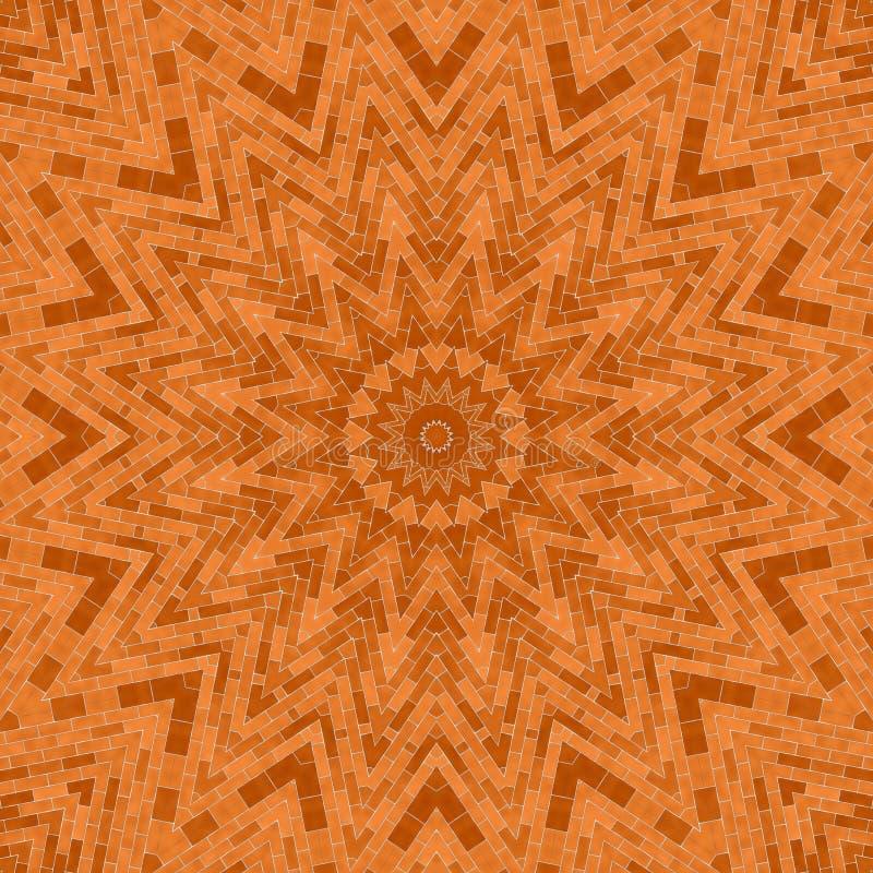 Okrąża kalejdoskopowego syntetycznego sztuki tło, powikłana geometria obrazy stock