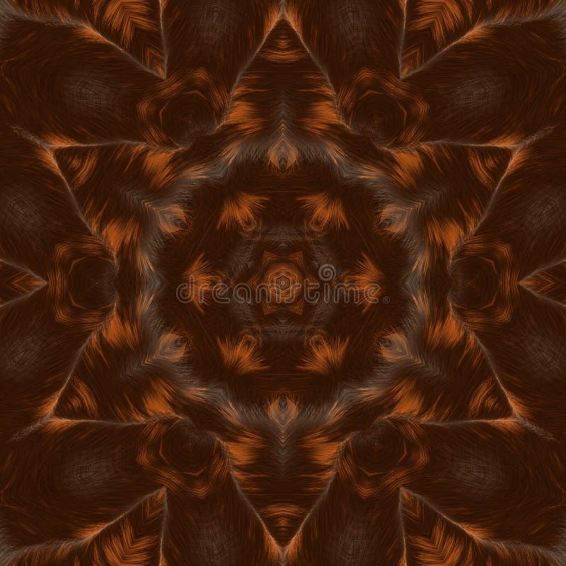 Okrąża kalejdoskopowego syntetycznego sztuki tło, powikłana geometria obraz royalty free