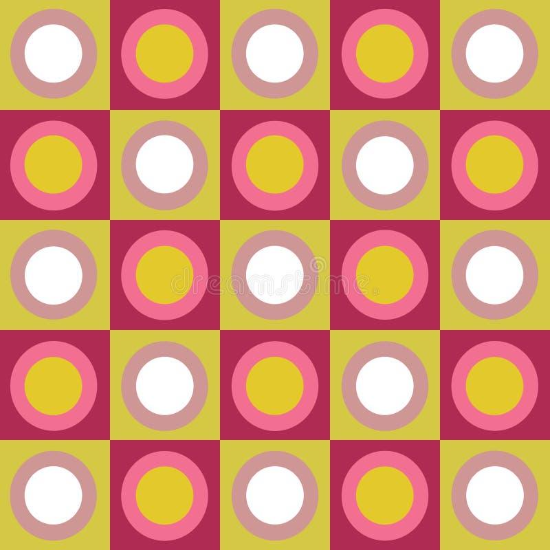 okrąża kolaży retro kolorowych kwadraty ilustracji