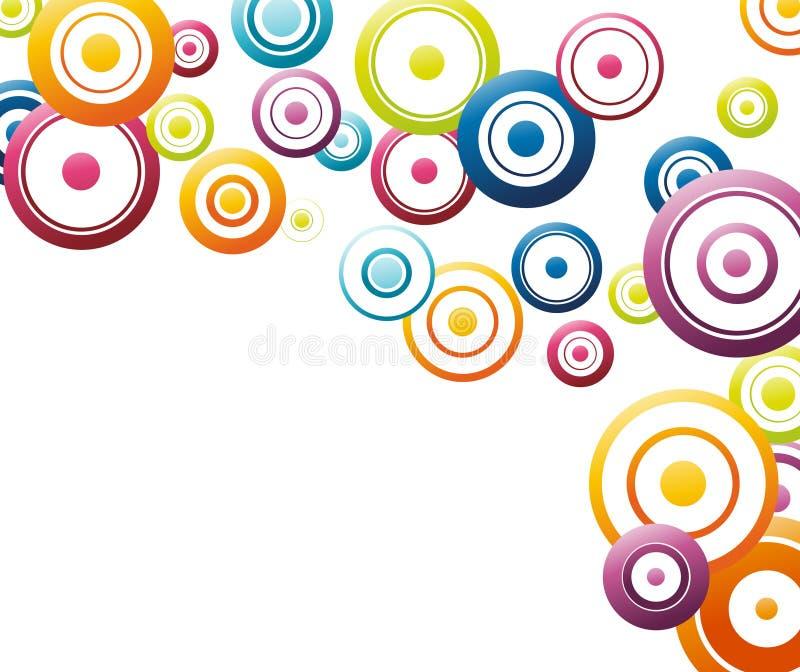okrąża kolorową bieżącą tęczę ilustracji