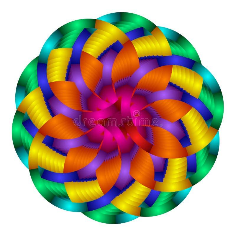 okrąża kolorowego gradient ilustracja wektor