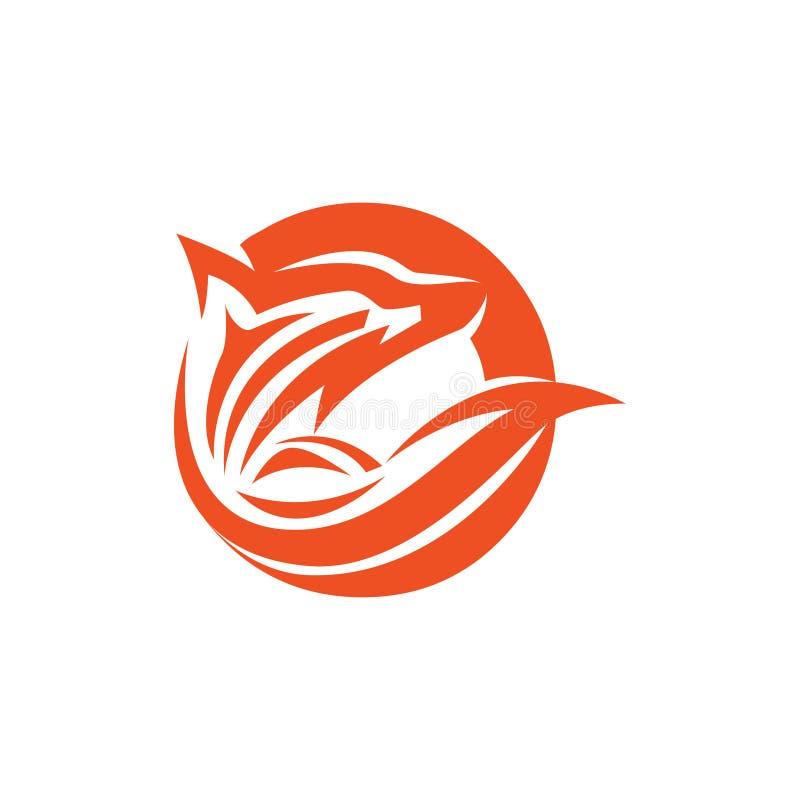 Okrąża lisa wydobującego dla spojrzenie logo, Wektorowy wizerunek lisa projekt na białym tle, dzikie zwierzęta royalty ilustracja