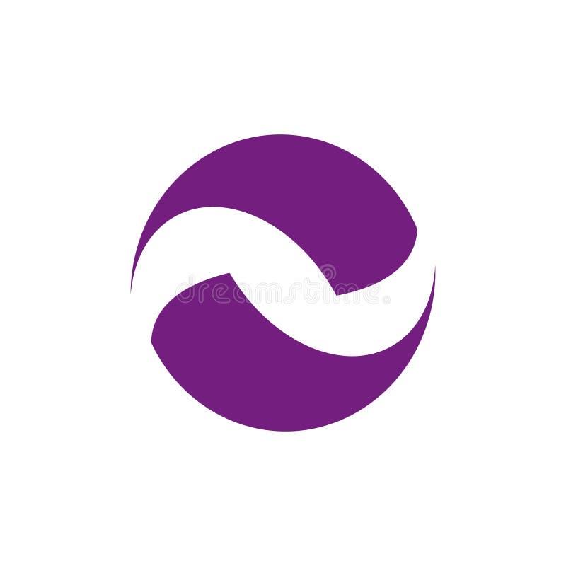 Okrąża logo wokoło ostrza wektorowego pojęcia, Ziemski logo projekt w royalty ilustracja