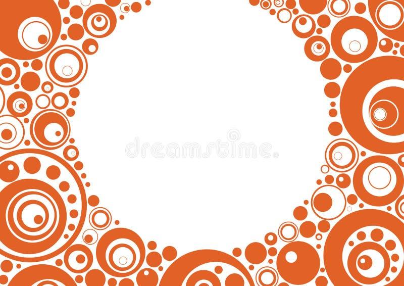 okrąża pomarańcze ilustracja wektor