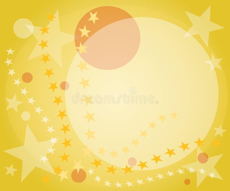 okrąża tła złote gwiazdki royalty ilustracja