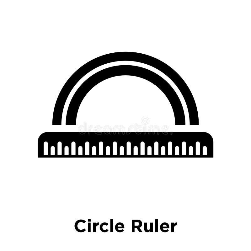 Okrąża władcy ikony wektor odizolowywającego na białym tle, logo conc royalty ilustracja