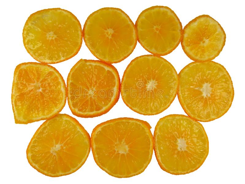 Okrągłe plasterki pomarańczowe obraz royalty free