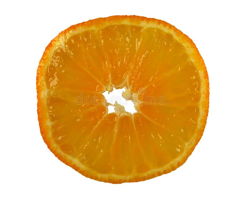 Okrągły plaster pomarańczowy zdjęcia stock