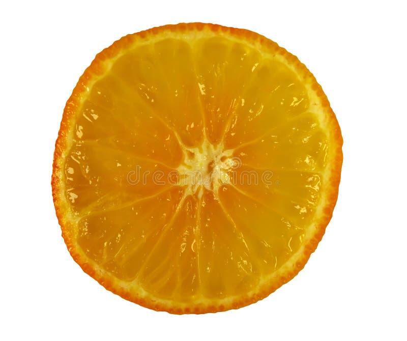 Okrągły plasterek pomarańczowy zdjęcia stock