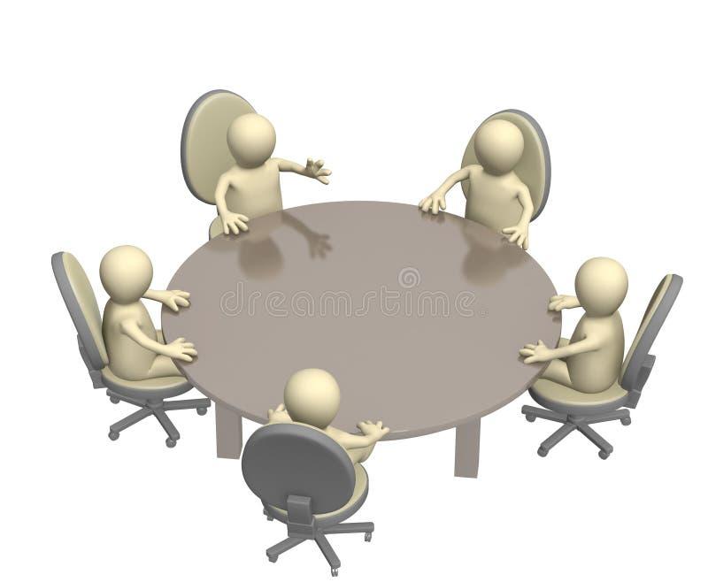 okrągły stół ilustracja wektor