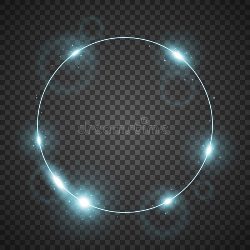 Okrąg światło, aqua kolor ilustracji