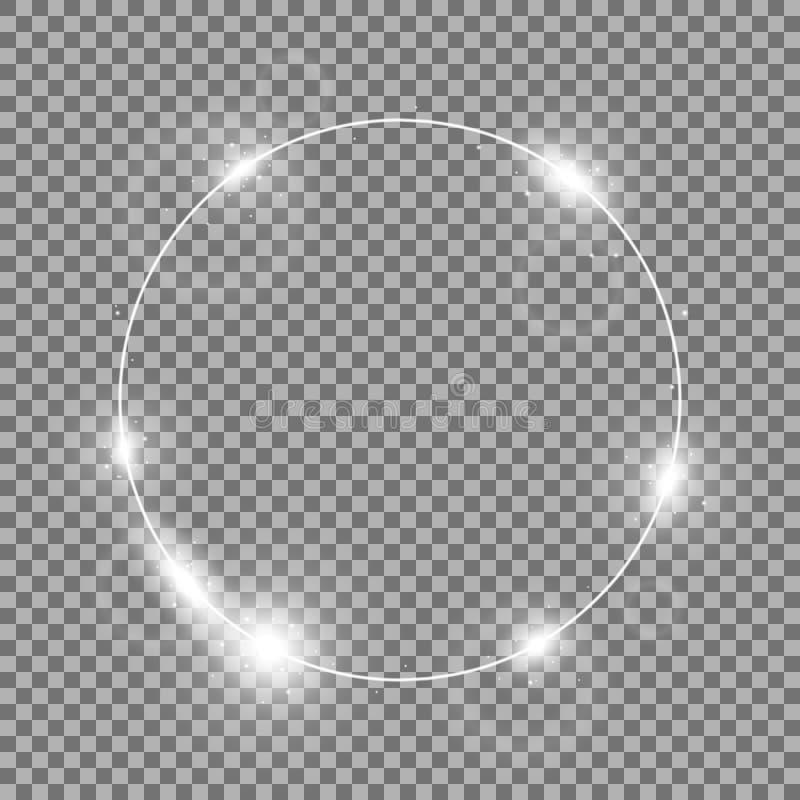 Okrąg światło, biały kolor royalty ilustracja