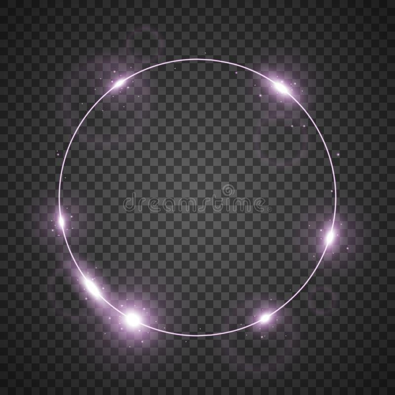 Okrąg światło, purpura kolor ilustracji