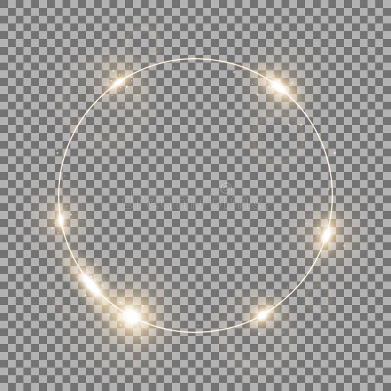 Okrąg światło, złoty kolor ilustracji