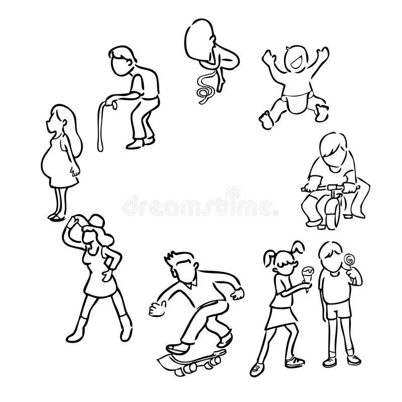 Okrąg życie ilustracji