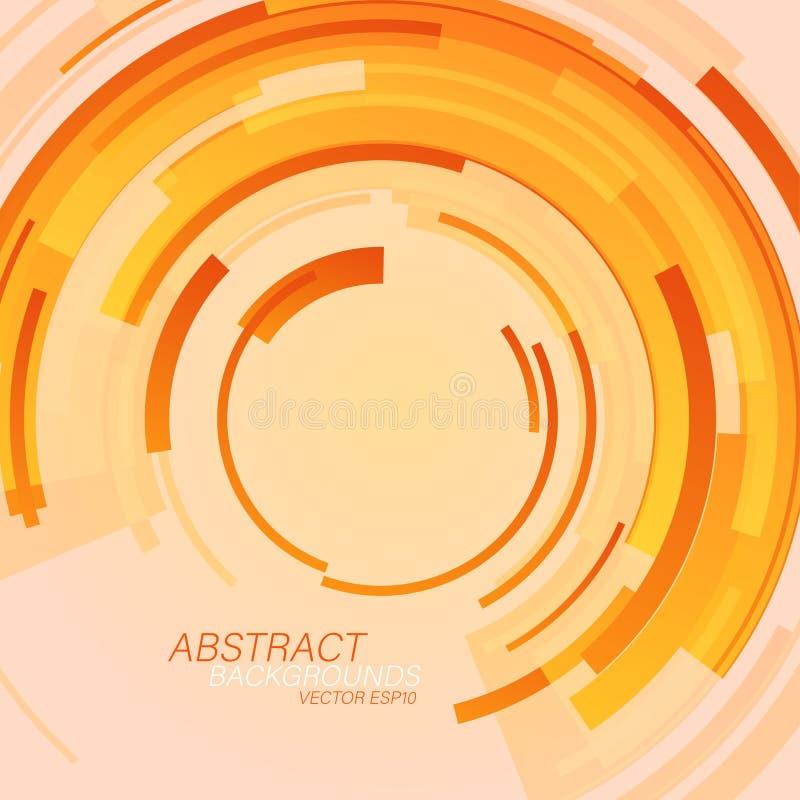 Okrąg barwi abstrakcjonistycznego tło sceny wektor royalty ilustracja