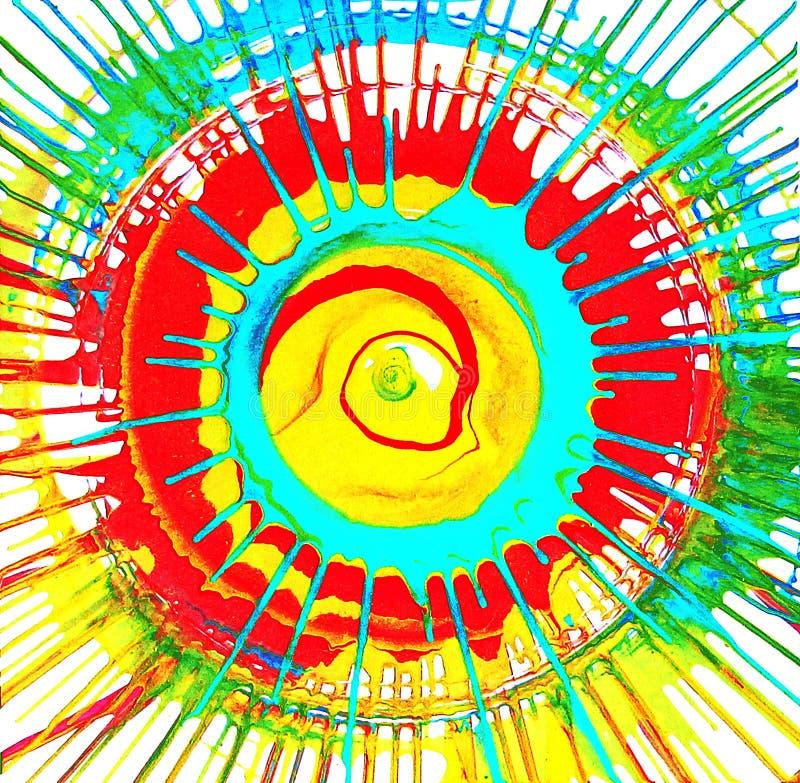 Okrąg - barwioni pluśnięcia Lata słońca promienie ilustracji