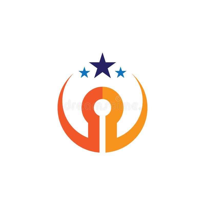 Okrąg edukacji biznesu gwiazdowy logo royalty ilustracja