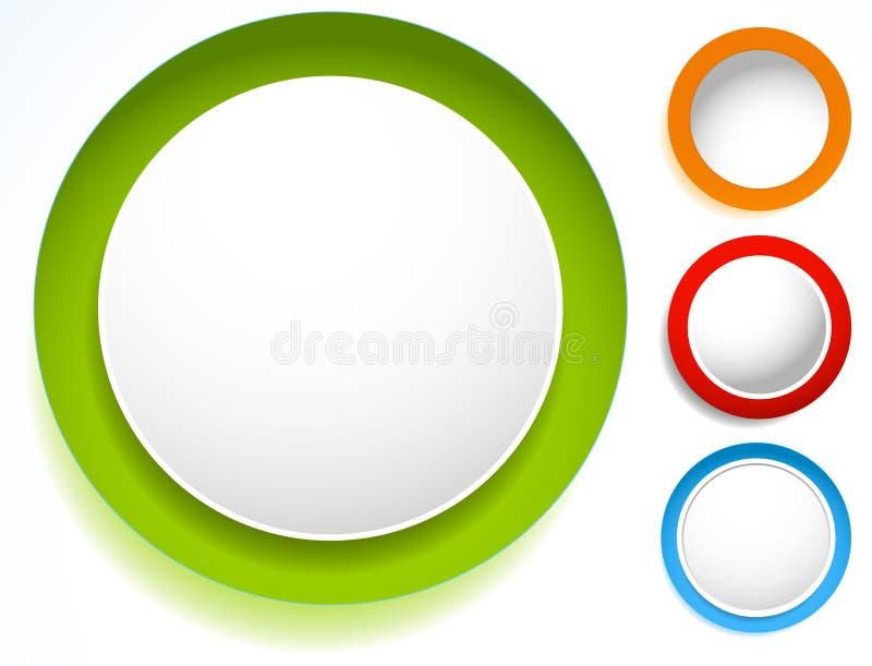 Okrąg ikona z pustą przestrzenią Pusty okręgu projekta elementu set S royalty ilustracja