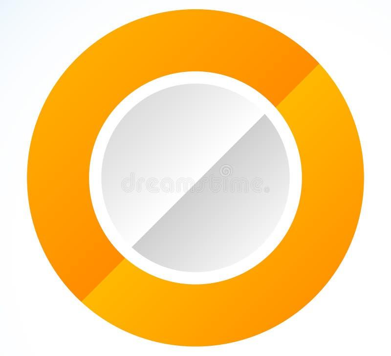Okrąg ikona z pustą przestrzenią Pusty okręgu projekta elementu set S ilustracja wektor