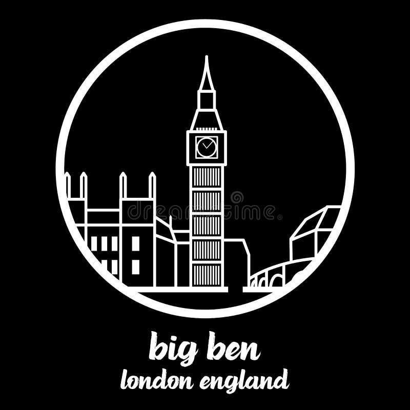 Okrąg ikony big ben r?wnie? zwr?ci? corel ilustracji wektora royalty ilustracja