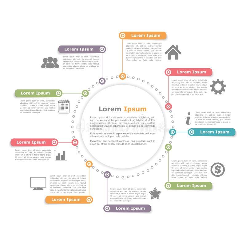 Okrąg Infographics ilustracja wektor