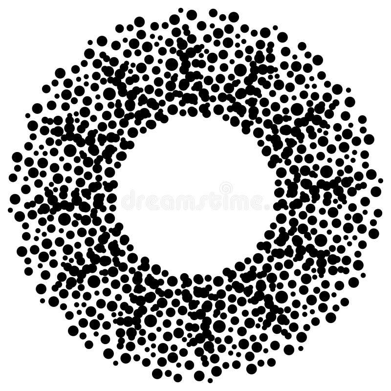 okrąg kropki ilustracji