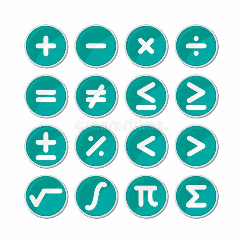Okrąg matematyki symbolu ikony wektor ilustracji