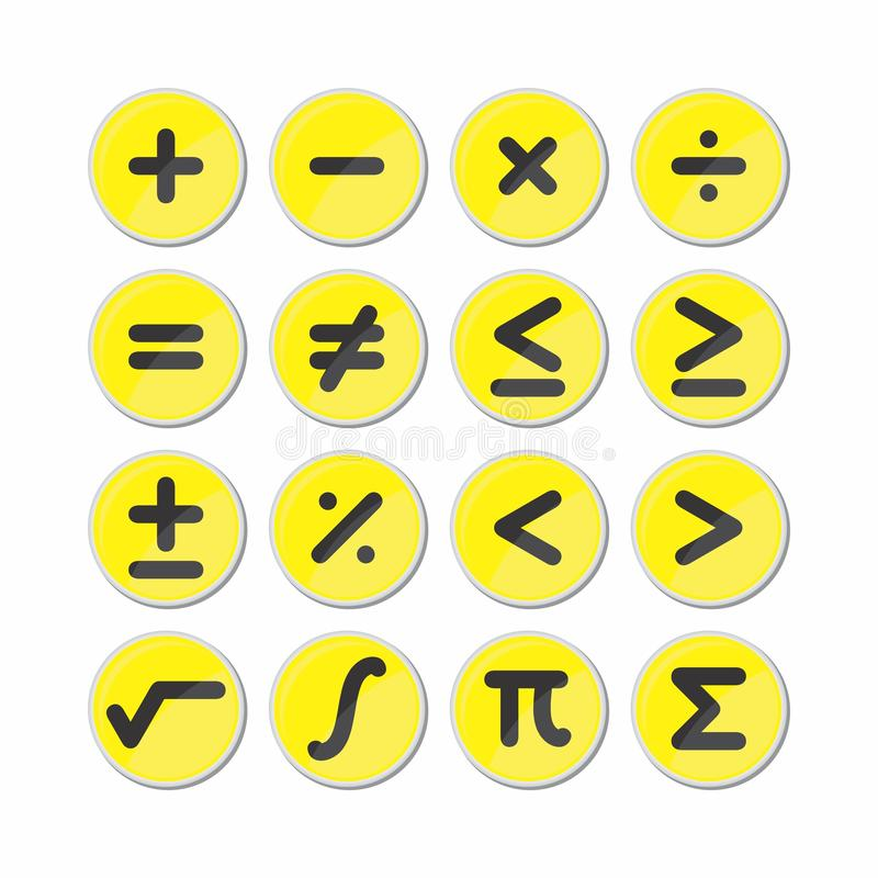 Okrąg matematyki symbolu ikony wektor ilustracja wektor
