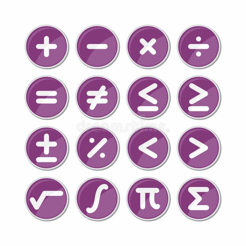 Okrąg matematyki symbolu ikony wektor royalty ilustracja