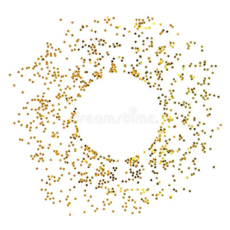 Okrąg od złoto gwiazd na białym tle fotografia royalty free