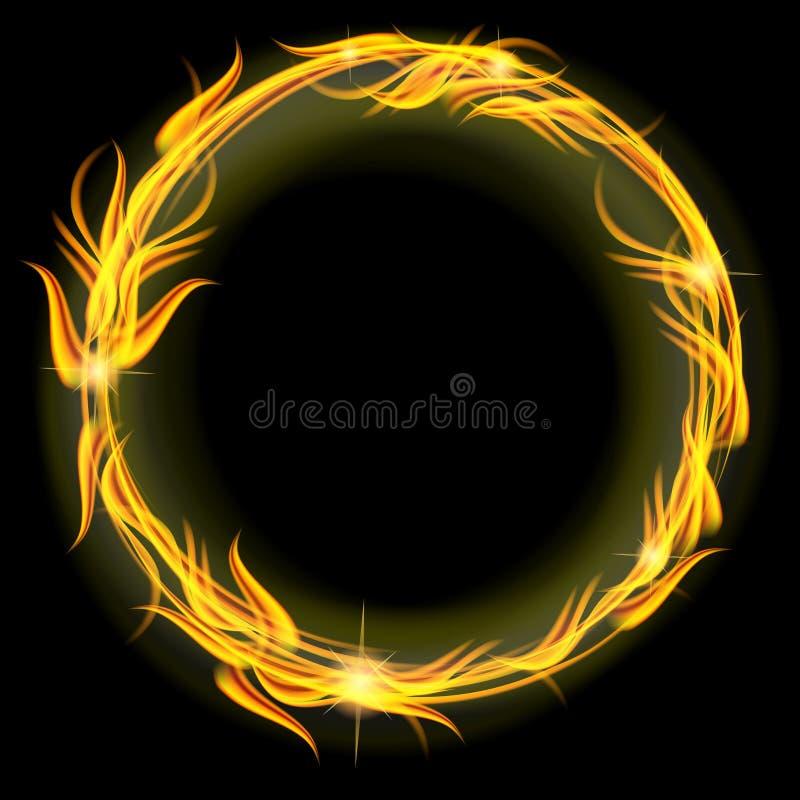 Okrąg ogień ilustracji