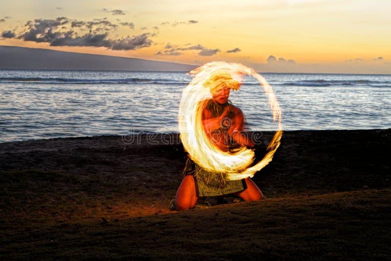 Okrąg ogień zdjęcia royalty free