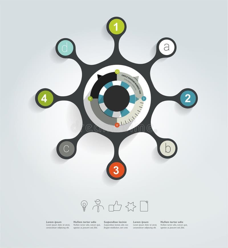 Okrąg sieci diagram ilustracja wektor