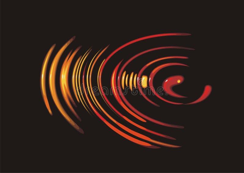 okrąg woda ilustracja wektor