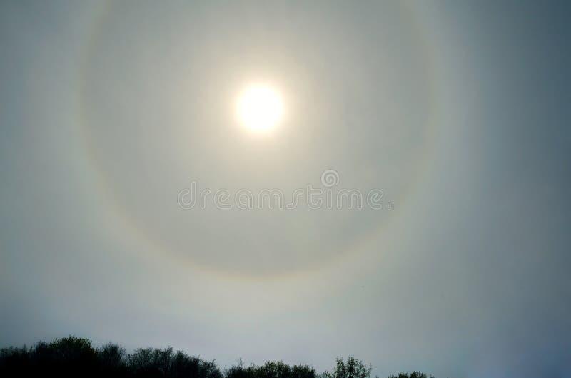 Okrąg wokoło słońca zdjęcia royalty free