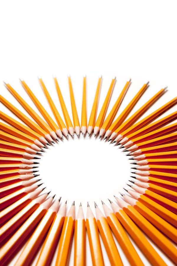 okrąg zrobił ołówkom obrazy stock