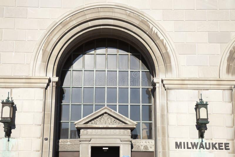 okręg administracyjny gmach sądu Milwaukee obrazy royalty free