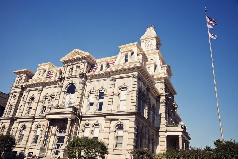okręg administracyjny gmachu sądu muskingum fotografia stock