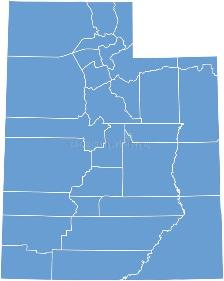 okręg administracyjny stan Utah ilustracji